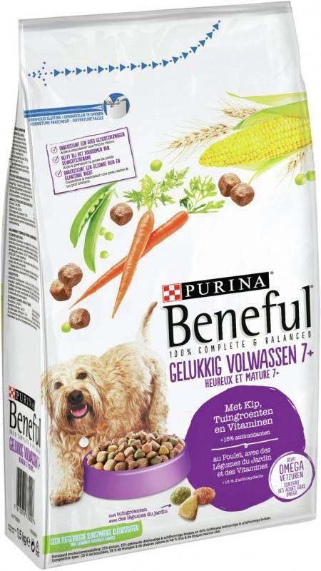 Beneful Gelukkig Volwassen 7plus Kip&Groenten 1.5 kg - Hondenvoer online kopen